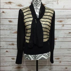 Antonio Melani Black & Gold blouse